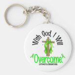Lymphoma With God I Will Overcome Keychain