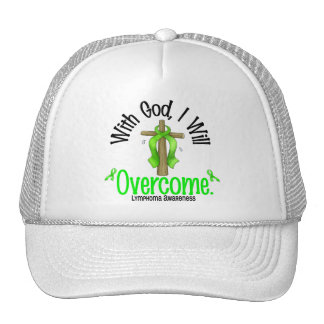 Lymphoma With God I Will Overcome Mesh Hats