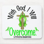 Lymphoma With God I Will Overcome Mouse Pad