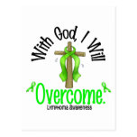 Lymphoma With God I Will Overcome Postcard