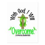 Lymphoma With God I Will Overcome Postcard