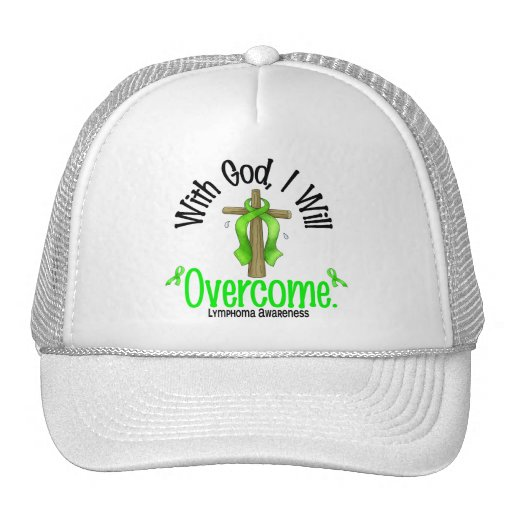 Lymphoma With God I Will Overcome Trucker Hat
