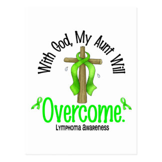 Lymphoma With God My Aunt Will Overcome Postcard