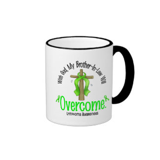 Lymphoma With God My Brother-In-Law Will Overcome Coffee Mug