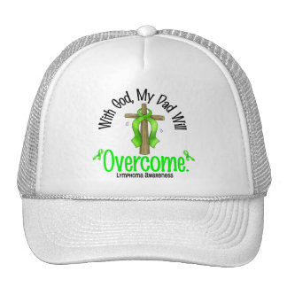 Lymphoma With God My Dad Will Overcome Mesh Hat