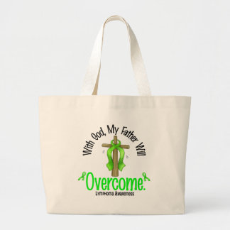 Lymphoma With God My Father Will Overcome Canvas Bag