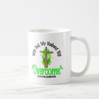 Lymphoma With God My Husband Will Overcome Coffee Mug