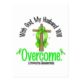 Lymphoma With God My Husband Will Overcome Postcard