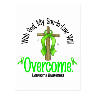 Lymphoma With God My Son-In-Law Will Overcome Postcard