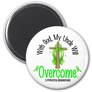 Lymphoma With God My Uncle Will Overcome 2 Inch Round Magnet
