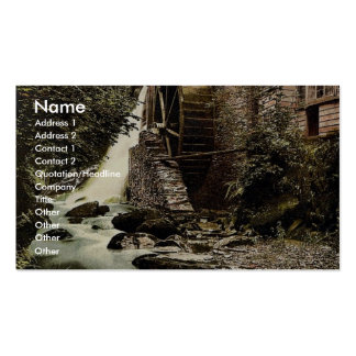 Lyn. Mill, East Lyn, Lynton and Lynmouth, England Double-Sided Standard Business Cards (Pack Of 100)