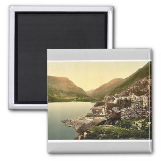 Lyn Peris Pass, Llanberis, Wales rare Photochrom 2 Inch Square Magnet