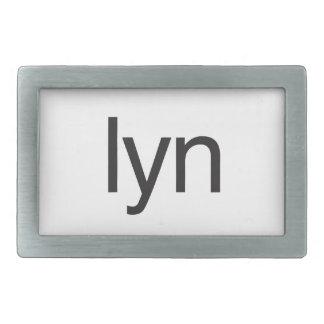 lyn rectangular belt buckle