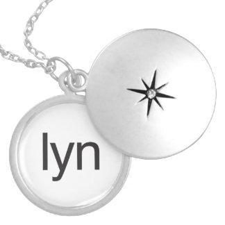 lyn round locket necklace