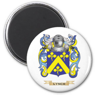 Lynch Coat of Arms (Family Crest) 2 Inch Round Magnet