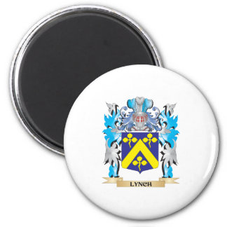 Lynch Coat of Arms - Family Crest 2 Inch Round Magnet