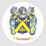 Lynch Coat of Arms (Family Crest) Round Sticker