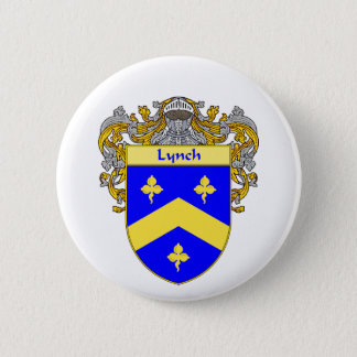 Lynch Coat of Arms (Mantled) Pinback Button