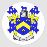 LYNCH Coat of Arms Round Stickers