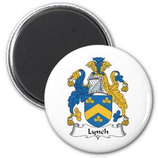 Lynch Family Crest 2 Inch Round Magnet