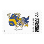Lynch Family Crest Postage Stamps
