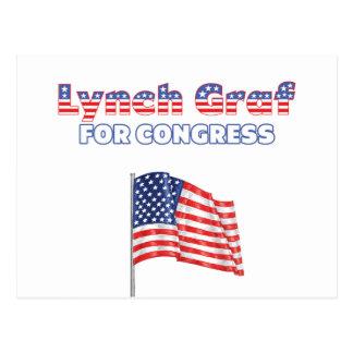 Lynch Graf for Congress Patriotic American Flag Postcard