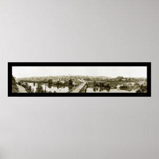 Lynchburg, foto 1919 del viaducto del VA Póster