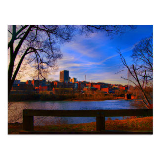 lynchburg va blue sky postcard
