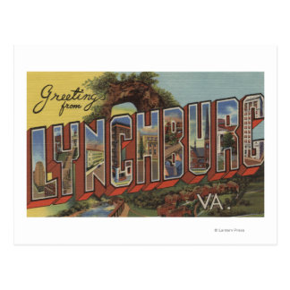 Lynchburg, Virginia - escenas grandes de la letra Tarjeta Postal
