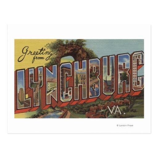 Lynchburg, Virginia - escenas grandes de la letra Tarjetas Postales