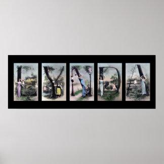 LYNDA Alphabet Letter Name Art Print
