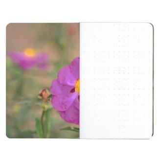 Lynda Anne Flower Logo Grid Pocket Journal