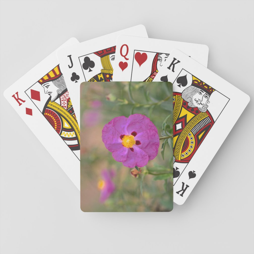 Lynda Anne Flower Logo Playing Cards