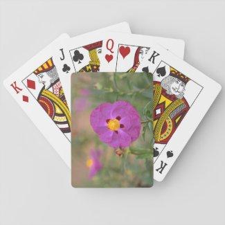 Lynda Anne Flower Logo Playing Cards