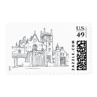 Lyndhurst Castle Sketch Stamp