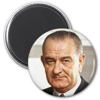 Lyndon B. Johnson 36 Imán Redondo 5 Cm