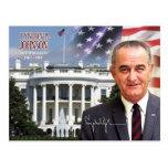 Lyndon B. Johnson - 36.o presidente de los E.E.U.U Tarjeta Postal