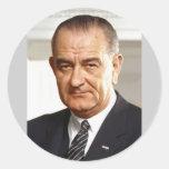 Lyndon B. Johnson 36 Pegatina Redonda