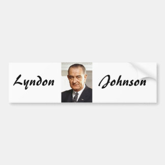 Lyndon B. Johnson 36th President Car Bumper Sticker