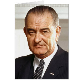 Lyndon B. Johnson 36th President Card