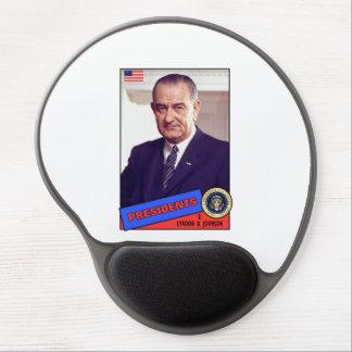 Lyndon B Johnson Baseball Card Gel Mousepad