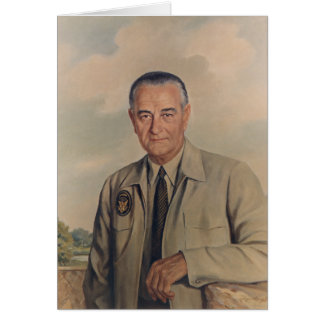 Lyndon B. Johnson - Elizabeth Shoumatoff (1969) Card