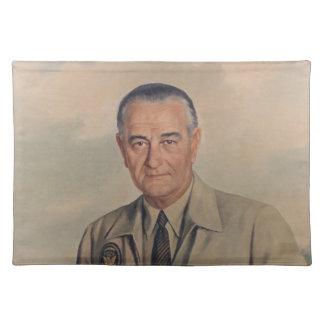 Lyndon B. Johnson - Elizabeth Shoumatoff (1969) Manteles Individuales