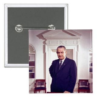 Lyndon B Johnson Pin Cuadrado