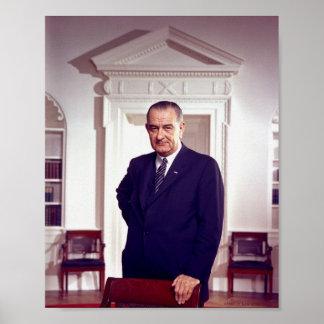 Lyndon B Johnson Póster