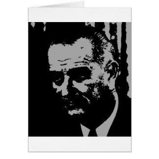 Lyndon B. Johnson silhouette Card