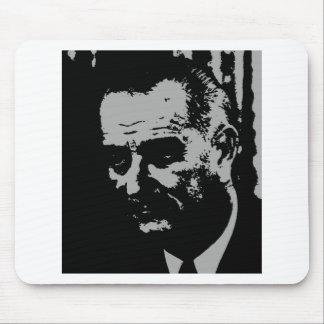 Lyndon B Johnson silhouette Mouse Mats