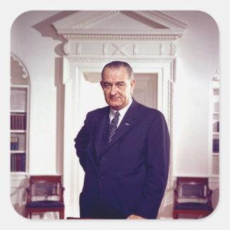 Lyndon B Johnson Square Sticker