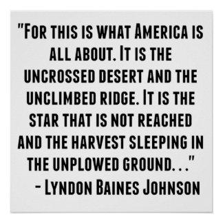 Lyndon Baines Johnson Quote Poster