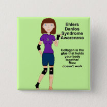 Lyndon Ehlers Danlos Syndrome Awareness button
